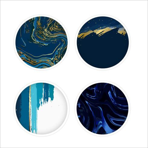 Mable ronde icon set