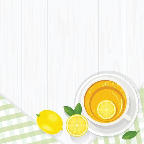 Citronte i råna på bordet