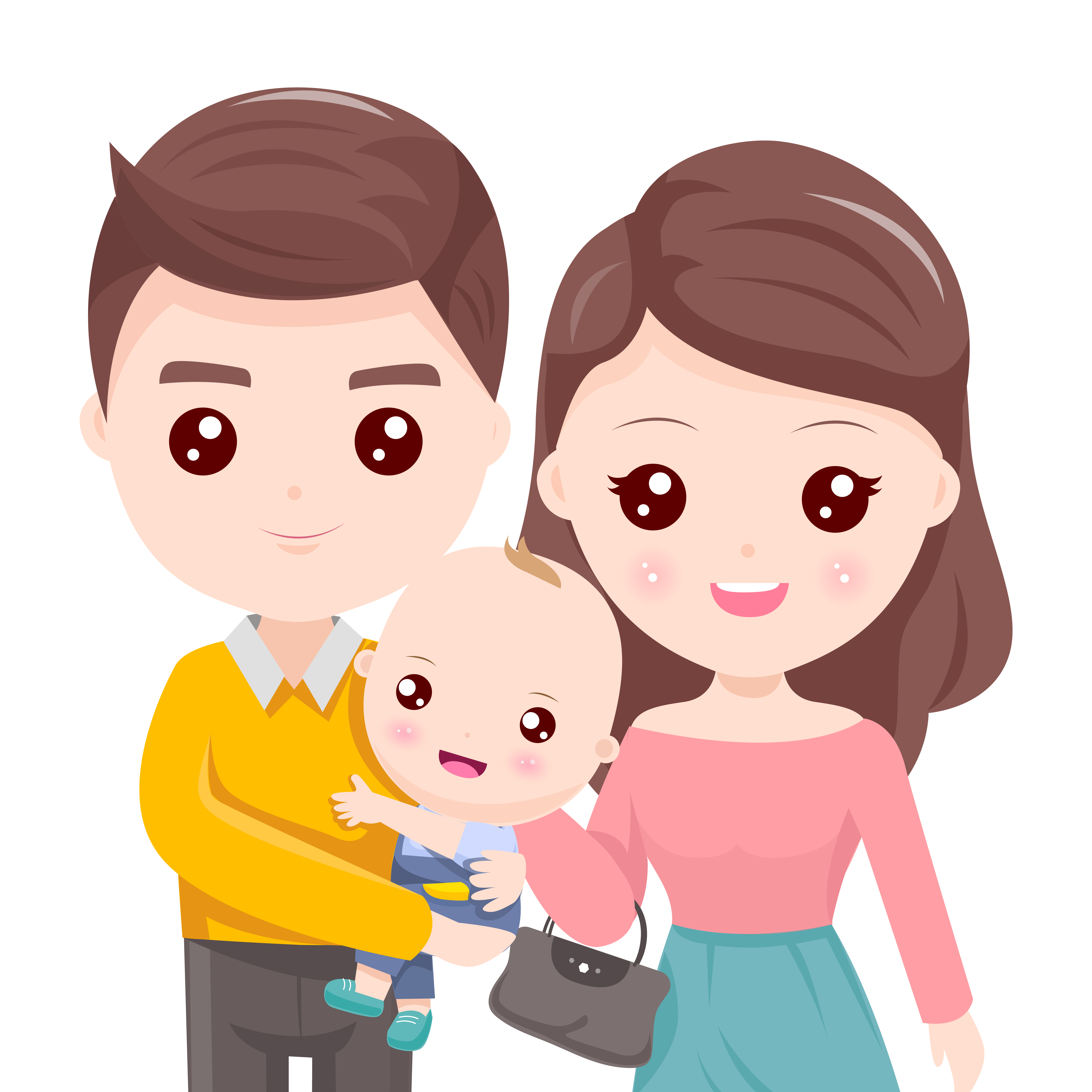Father Holding The Child With Beautiful Mother Download Free Vectors Clipart Graphics Vector Art