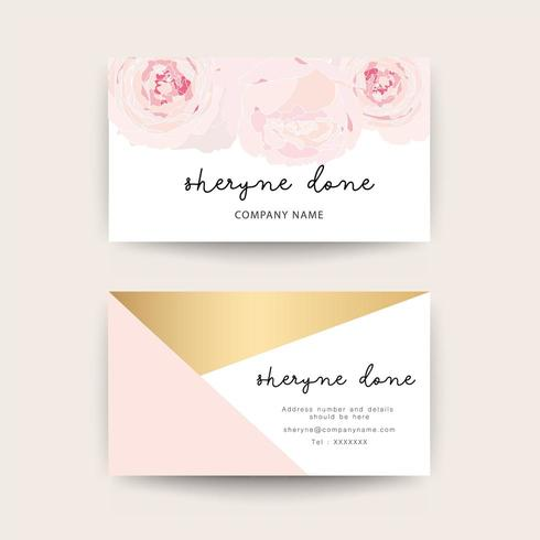 Floral Visitenkarten Vorlage Download Kostenlos Vector