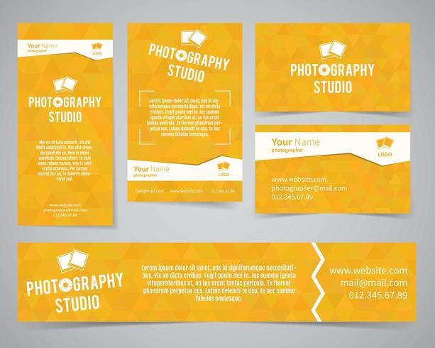Modern identity set for photography studio or other business