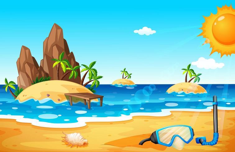 Scène avec îles et plage