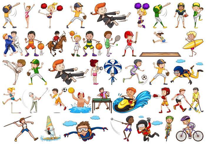 Ensemble d'athlètes sportifs