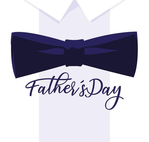 happy father day card with bow tie