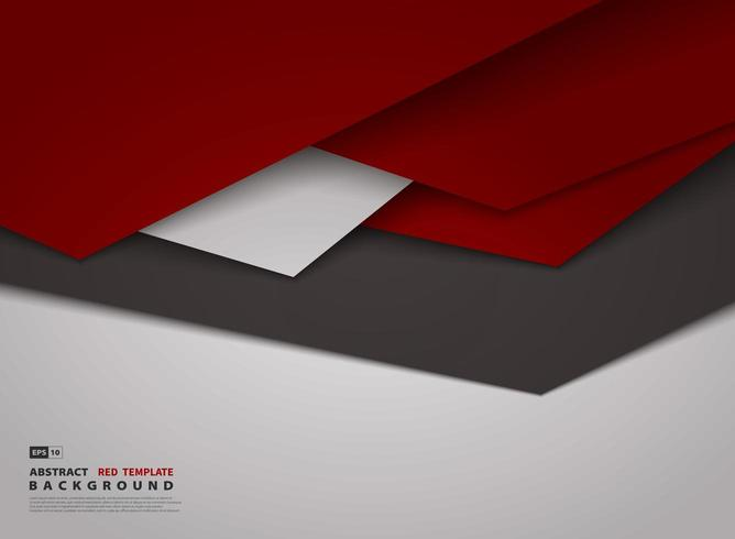 Abstract gradient red triangle overlap design background