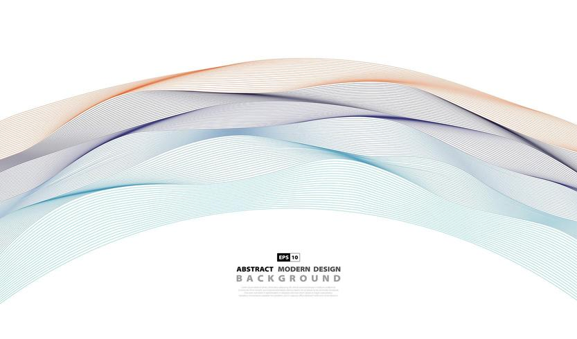Abstract wavy colorful pattern cover background