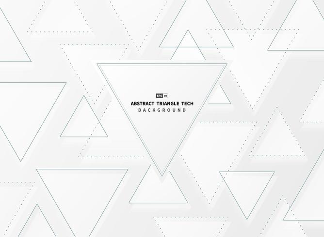 Abstract gradient white and gray triangle techno background