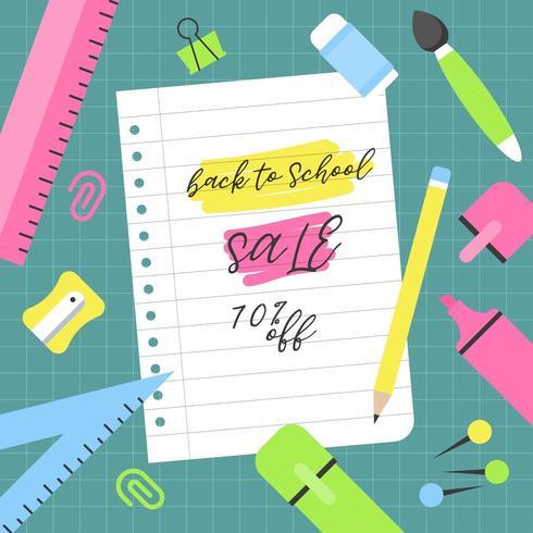 Manifesto di vendita del 70 per cento di ritorno a scuola
