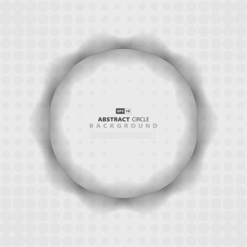 Abstract grijs golvend patroonontwerp cirkel halftoonontwerp