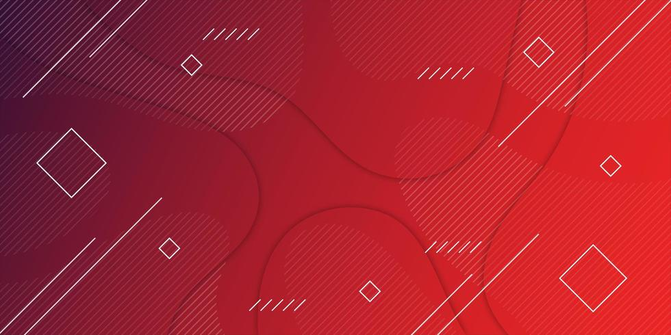 Red Gradient Geometric background