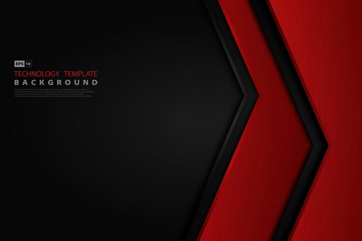 Abstract gradient red on black background