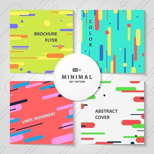 Paquet de motifs de lignes colorées abstraites