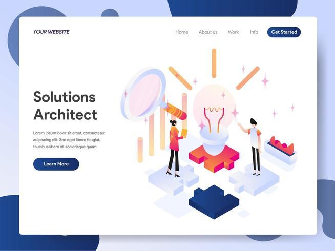 Concept d'illustration isométrique architecte solutions