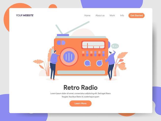 Retro Radio Illustration Concept vector