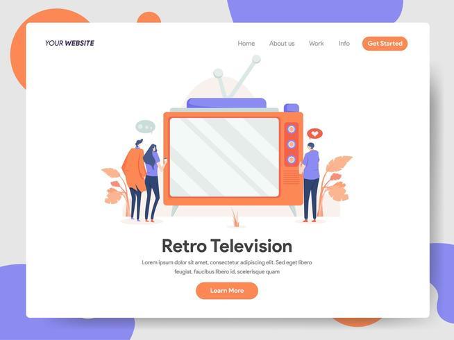 Concepto de ilustración de televisión vector