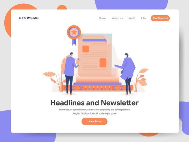 Digital Newsletter Illustration Concept  vector