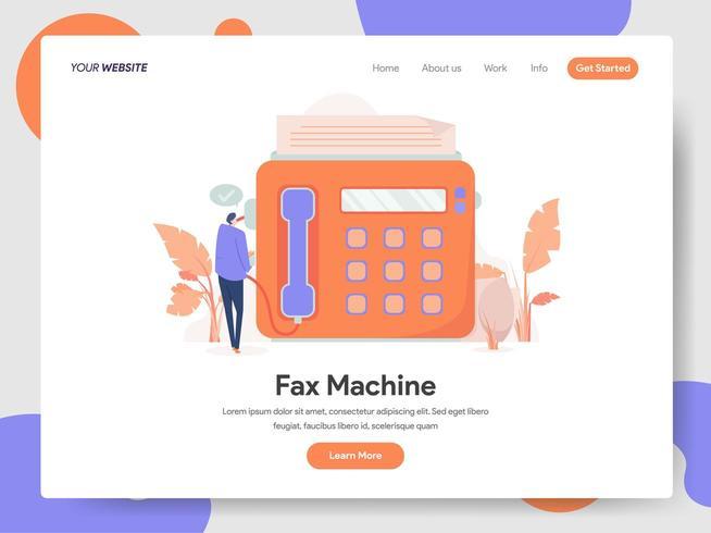 Fax Machine Illustration Concept