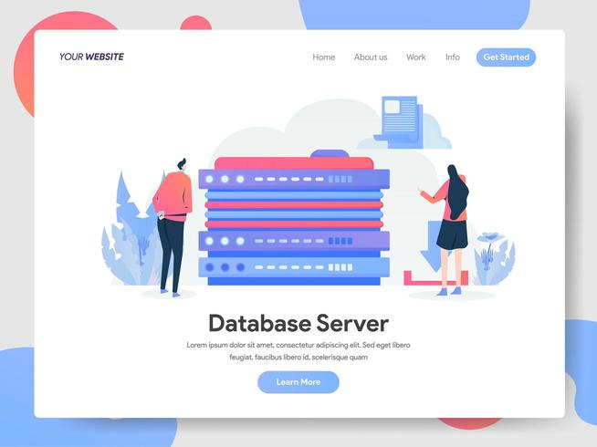 Concetto dell'illustrazione del server di database