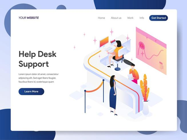 Helpdesk Support Isometric Illustration Concept