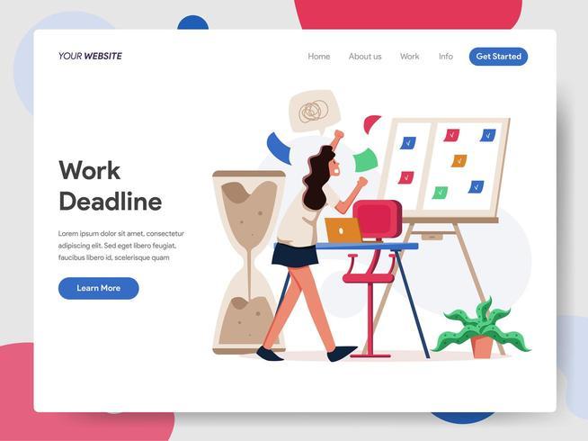 Deadline Illustration Concept vector