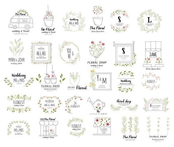Cadre floral pour mariage