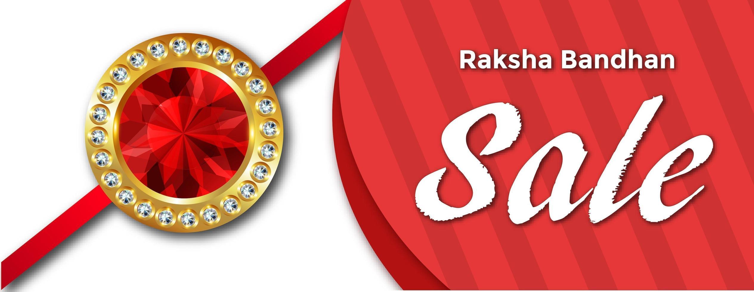Happy Raksha Bandhan verkoopbanner vector
