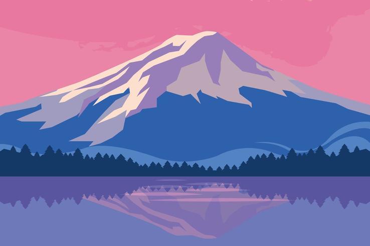 Sunset over lake scene