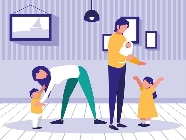 avatar de familia en la casa