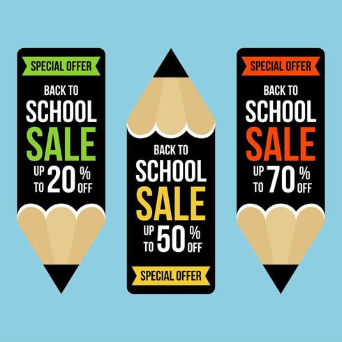 Set di banner a forma di matita per tornare a scuola in vendita