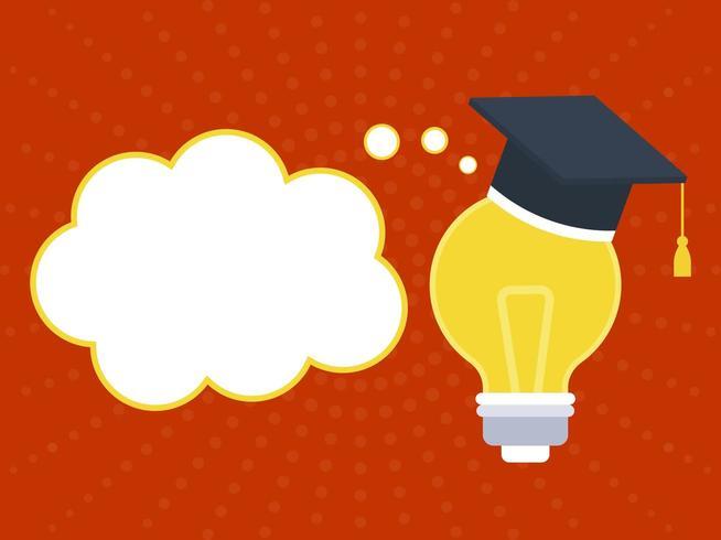 Examen Hat på glödlampa med pratbubblan