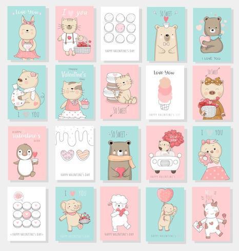 Valentinstaghintergrund mit nettem Babytier
