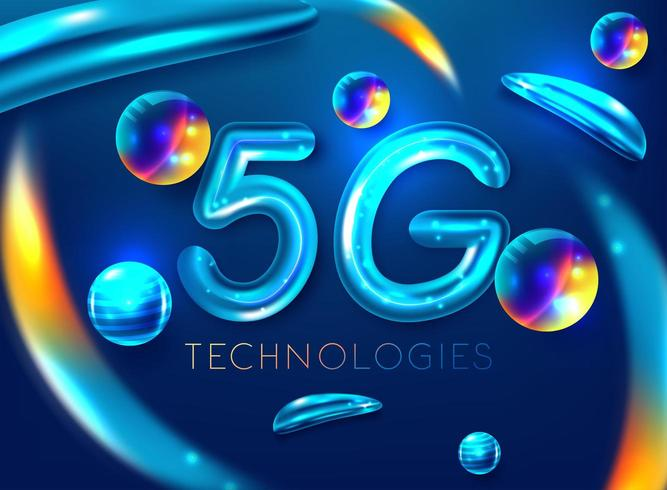 Smartphone 5G symbool vector