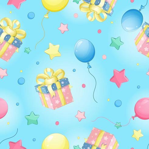 Patrón transparente de vector para cumpleaños