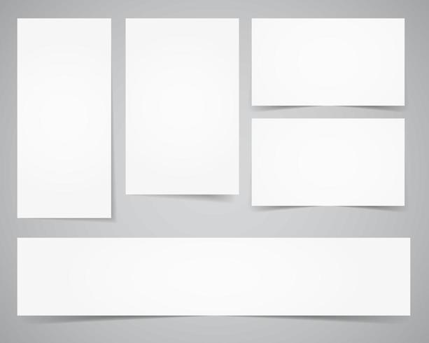 Huisstijl sjablonen. Papieren editie vector
