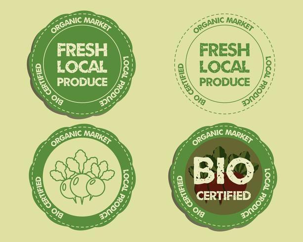 Emblemas de produtos frescos da fazenda