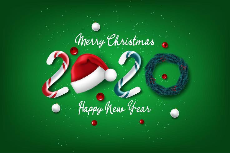 Christmas Card Deals 2020 2020 new year and Christmas card   Download Free Vectors, Clipart