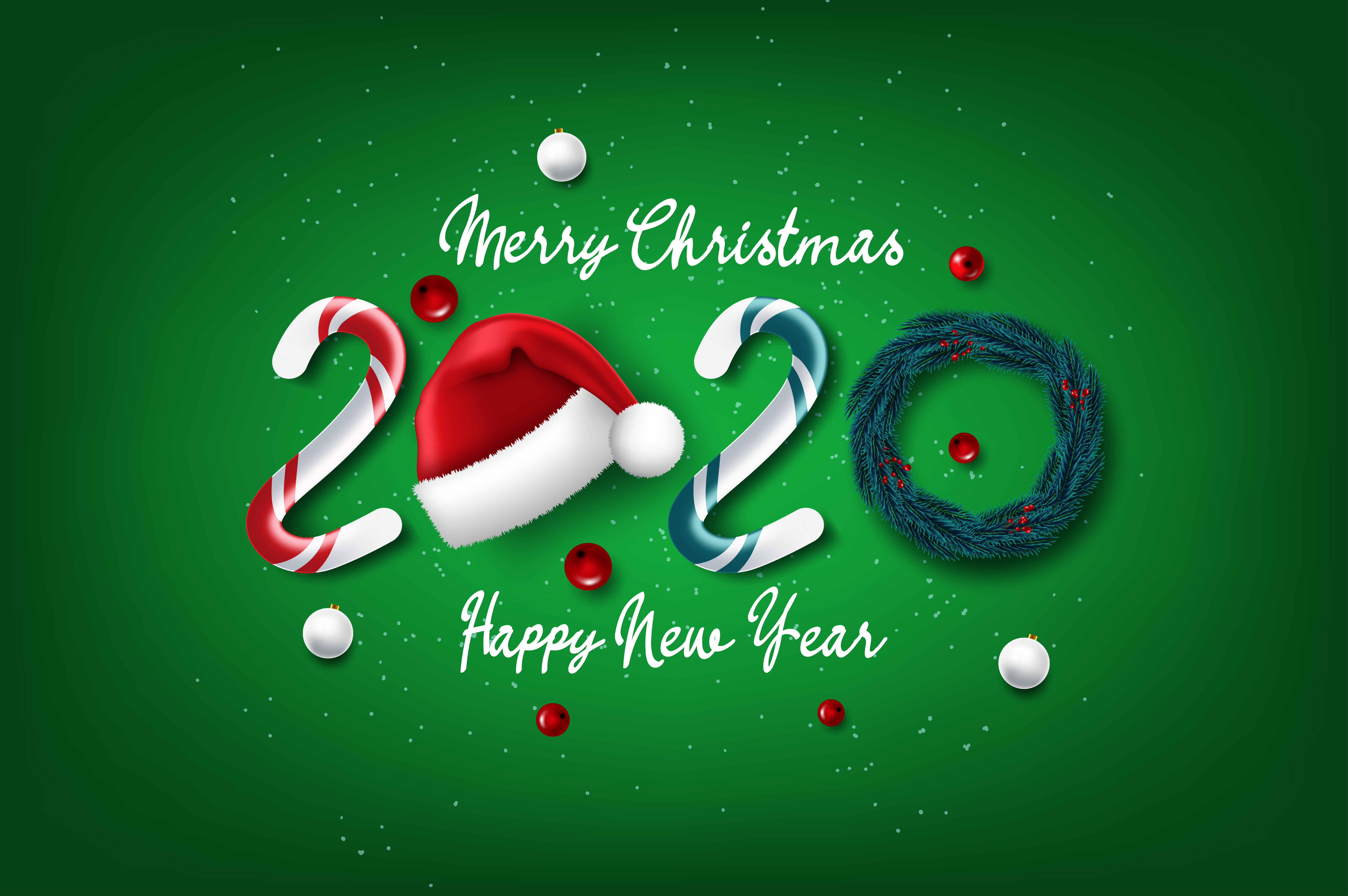 2020 new year and Christmas card   Download Free Vectors, Clipart