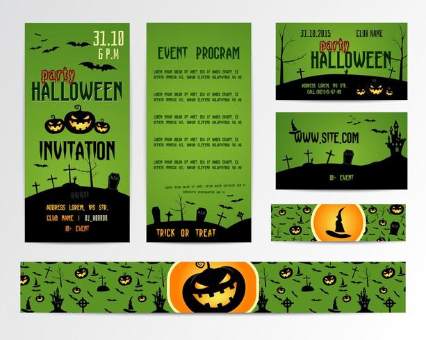 Happy Halloween Invitations and Banners