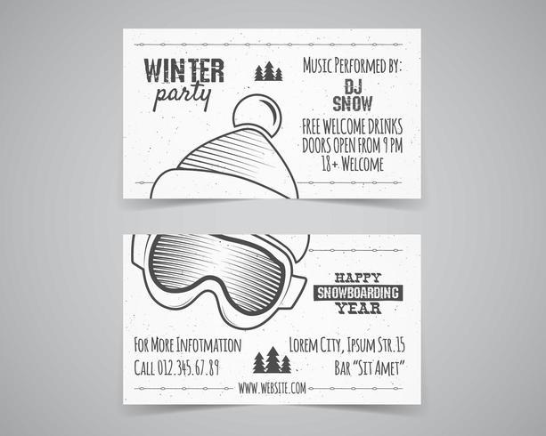 Layout de brochura de festa de inverno