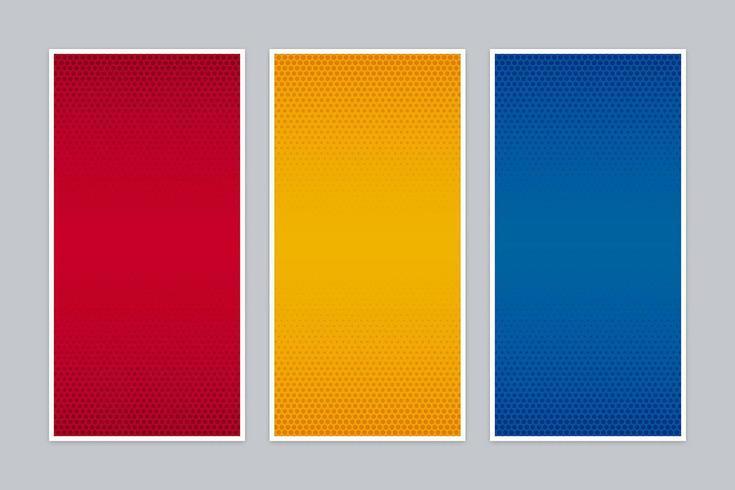 Insieme della bandiera di gradiente di semitono colorato vettore