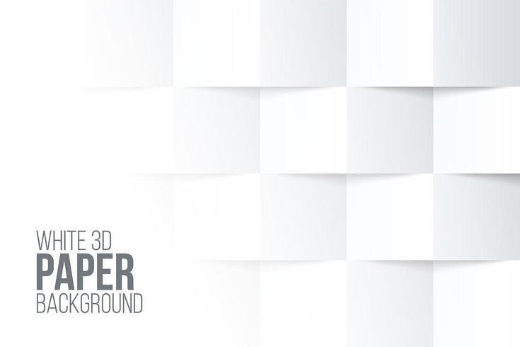 Priorità bassa di carta piegata tridimensionale bianca vettore