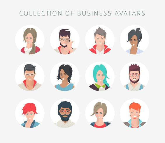 Raccolta di avatar per i social network vettore