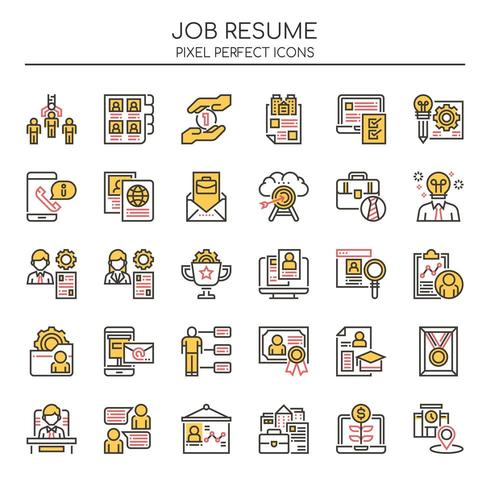 Set Of Duotone Thin Line Job Resume Icons Download Free Vectors Clipart Graphics Vector Art