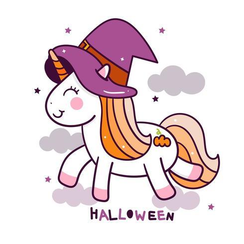 Halloween Dessin Animé Mignon De Licorne Telecharger
