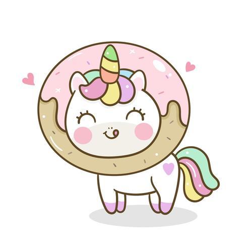Deliciosa comida Unicornio y Donut