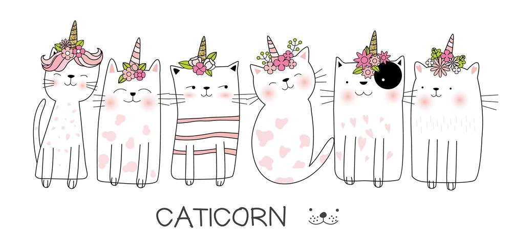 Catcorn illustration set
