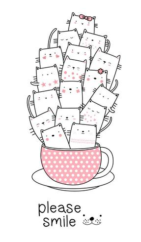Baby katten in een beker