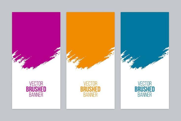 Set di banner spazzolato colorato vettore
