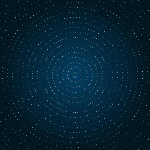 Cerchio astratto puntini dorati glitter
