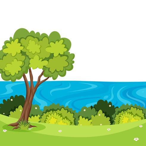 Un bellissimo paesaggio naturale con alberi e acqua